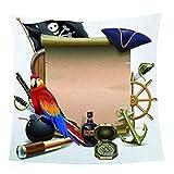 SHHSGZ Cartoon Papagei und Piratenfahne Decke Kinder Decke sofadecke plüsch Decke Flauschige...