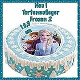 Unbekannt Tortenaufleger Geburtstag Frozen, ELSA und Anna Oblate