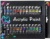 Zenacolor Set mit 24 Acrylfarben 24 Tuben je 12 ml - Wasserbasis