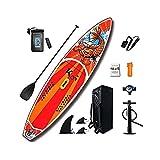 YoLiy Paddle Board Aufblasbare SUP Boards (6 Zoll Dick) for Jugend Und Erwachsene Alles Inklusive...