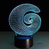 Abstrakte 3D Tischlampe LED Nachtlicht Nachtlicht Acryl Tischlampe Atmosphäre Schreibtisch...