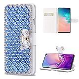 Omio Schutzhülle für Samsung Galaxy S10E (Brieftaschen-Design, luxuriös, mit Strasssteinen,...