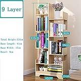 9 Rang Aufbewahrung Bücherregale Baum-gefürmt,geometrische Bücherregal Veranstalter Ecke Gestell...