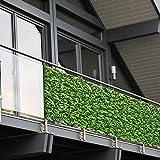 Balkon Sichtschutz PVC   90x600 cm   Extra Blickdicht   Wetterfest   mit UV-Schutz   Deko fr...