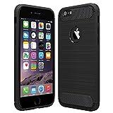 Anjoo Kompatibel für iPhone 6/6s Hülle, Carbon Fiber Texture-Inner Shock Resistant-Weich und...