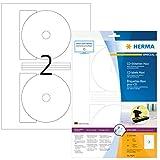 HERMA 8624 CD-/DVD-Etiketten inkl. Positionierhilfe DIN A4 blickdicht ( 116 mm MAXI, 10 Blatt,...