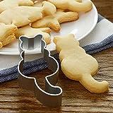 LQZ Ausstechform Katze Ausstechformen Ausstecher Keksausstecher Edelstahl Backen Fondant Cookie Keks