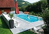 KWAD Styropor Stein Pool Standard mit Ecktreppe 600 x 300 x 150 cm