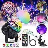 Discokugel Kinder infinitoo LED Discolicht Musikgesteuert RGB Lichteffekte Disco Partylicht mit...
