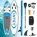 INTEY Aufblasbares SUP Stand Up Paddel Board 305×76×15cm,ISUP Surf Board mit Luftpumpe,...