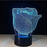 Neuheit LED Nachtlicht Romantische Rosen Modellierung 3D Bunte Visuelle Liebhaber Schreibtischlampe...