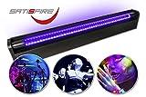 SATISFIRE Schwarzlicht LED-UV-Röhre 60cm Komplettset | 10W High Power | ca. 30.000 Stunden...