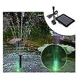 Xcmenl Solar Springbrunnen Solar Teichpumpe Garten Wasserpumpe Solarpumpe mit 1.2W Monokristalline...
