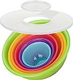 Kigima Schüsselset Rainbow 8-teilig Salatschüssel, Rührschüsseln (5X Schüsseln...
