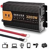 NBQABN 3200W Auto Wechselrichter Reiner Sinus, Inverter KFZ Spannungswandler DC 12V 24V auf AC 230V...