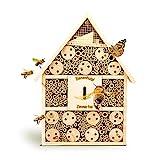 bambuswald Insektenhotel 28,5 x 9 x 39 cm | Bienenhotel Unterschlupf fr Insekten - Insektenhaus...