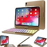 Snugg Tastatur für iPad 12.9 2018 [Gold] kabellose, hintergrundbeleuchtete Bluetooth-Tastatur,...
