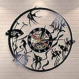 Goldfisch Wandkunst Wanduhr Minimal Home Decoration Modernes Design Schallplatte Wanduhr...