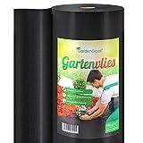 GardenGloss 50m Premium Unkrautvlies 150g/m Extra Stark - Gartenvlies gegen Unkraut  Unkrautfolie...