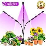 Orthland Pflanzenlampe 36W 72 LED Pflanzenlicht Automatische Zeitschaltuhr Grow Light Lampe...