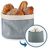 Brotkorb mit Deckel und Kordelzug Brotbeutel Ø 25 cm Einfach zu Tragen Brötchenkorb 100%...
