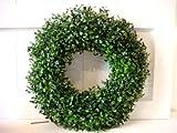 HKT Home Deco Buchskranz Kunstpflanze Kranz Trkranz Buchs Deko Dekoration Weihnachtsdeko Blume...