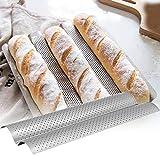 GXMWD Edelstahl Franzsisch Brot Backform Wave Backblech Praktische Kuchen Baguette Pfannen...