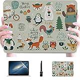 Laptop 13 Zoll Fall Weihnachten Set handgezeichneten Stil Kalligraphie Ani Kunststoff Hartschale...