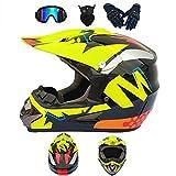 CCZC Motocross-Helm Erwachsene Motorradhelm ATV-Roller ATV-Helm Full face Motocross Helm mit...