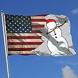 Elaine-Shop Outdoor Flags USA Flagge Tupfen Schneemann Tupfen Weihnachten Weihnachten 4 * 6 Ft...