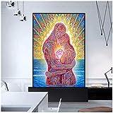Unbekannt Leinwand Malerei Abstrakte Kunst Umarmung Liebe Poster Bilder Wandkunst Für Wohnzimmer...