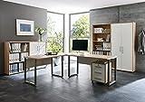 Bro Mbel Arbeitszimmer komplett Set Office Edition (Set 1) in Eiche Sonoma/Wei - abschliebar und...