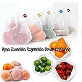 5PCS wiederverwendbare Mesh Bag Gemüse, waschbar umweltfreundliche Taschen Obst, Taschen für...