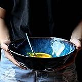 Liuwubing Salatschüssel Ramen Schüssel Suppenschüssel Keramik Schüssel Kreative Form...