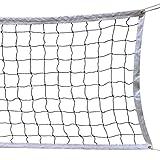 HOGAR AMO Volleyball Netz 9.5M x 1 M mit Stahl Seil Faltbare Offizielle Standardgre Indoor Outdoor...