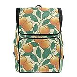 Laptop-Rucksack, Pfirsichbaum-Muster, große Kapazität, für Reisen
