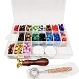 tidystore 760 Stück Siegellack Perlen Stempel Dichtung Stick Zubehör Verpackt in Plastikbox mit 2...