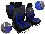 POK-TER-TUNING Universal Auto Sitzbezüge, Super Qualität Design Kunstleder mit Alkantra -GT. in...