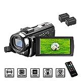 Camcorder Videokamera HD 1080P 24MP Video Camcorder, 16X Digitalzoom Kamera, 3,0 Zoll LCD...