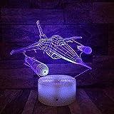 3D Illusion Nachtlicht Bluetooth Smart Control 7 & 16M Farbe Mobile App Led Vision Cool Flugzeug...
