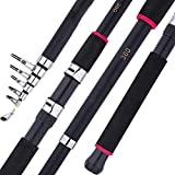 LEICH Angel, 1.8M-3.6M Carp Fishing Rod Super Hard FRP Faser Casting Teleskop Angelrute Hart (Color...