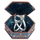 Alinory Schmuck Aufbewahrungsbox, Vintage Schmuck Aufbewahrungsbox Ring Ohrringe Halskette Armband...