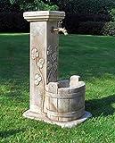 pompidu-living Standbrunnen Luna - Brunnen aus Marmor in echter Handarbeit - Der ideale...