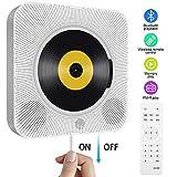 Tragbarer CD Player, wandmontierbar Bluetooth eingebaute HiFi-Lautsprecher fr Kinder, die...