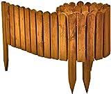 Floranica Flexibeler Beetzaun 203 cm (kürzbar) aus Holz als Steckzaun Rollboarder, Beeteinfassung,...
