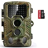 COOLIFE Wildkamera Fotofalle 20MP 1080P HD Jagdkamera Nachtsicht Bewegungsmelder IP66 Wasserdichter...