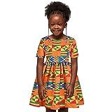 Allence Baby Mädchen Kleid Digitaldruck reißverschluss Kurzarm Kleid Prinzessin Kleid