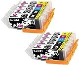 INK INSPIRATION Ersatz für Canon PGI-570XL CLI-571XL Druckerpatronen 10er-Pack, kompatibel mit...