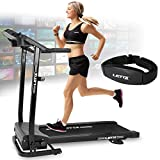 Letix Sports Motorisiertes Laufband mit APP Steuerung (Tablet, Smartphone) inkl. Pulsgurt,...