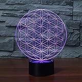 Touch Control Und Fernbedienung 3D Led 16 Farben Tischlampe Acryl Ball Form Nachtlicht Kinder...